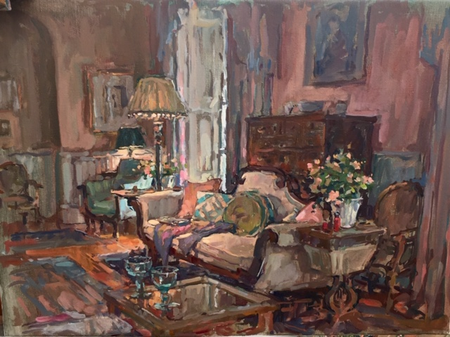 'Drawing Room Sofa' by Susan Ryder RP NEAC (b. 1944)