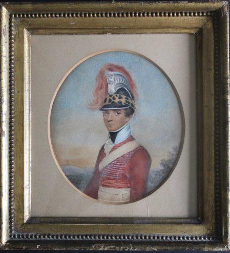 Captain Robert Woolf Junior (1786/7-1825) of the 6th Madras Light Cavalry by John Smart Junior