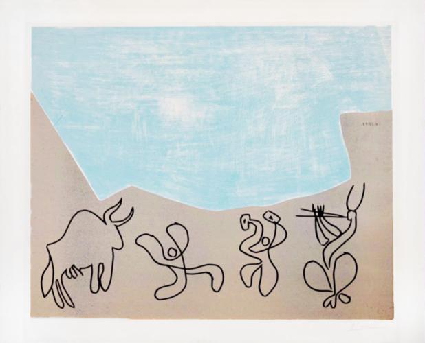 Pablo Picasso - 'Bacchanale au taureau'