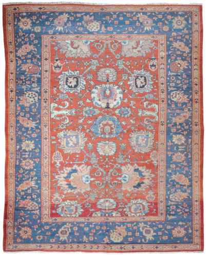 Antique Persian Ziegler carpet, circa 1880. 2.95 x 2.36m