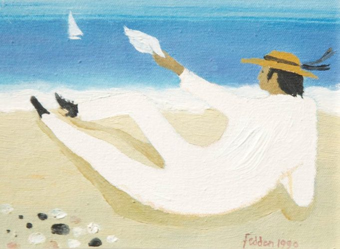 "Mary Fedden 1915 -2012 Julian on the beach 5"" x 9"""