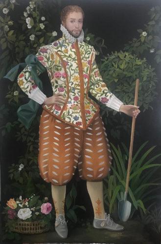 Floregium by Lizzie Riches. oil on canvas 138 x 92
