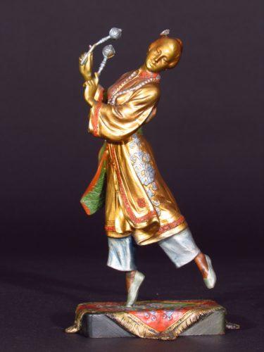 Viena bronze Chinese Dancer Circa 1900