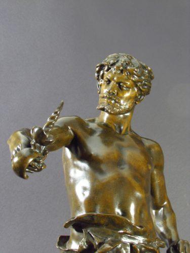 Bronze figure of a blacksmith Circa 1885