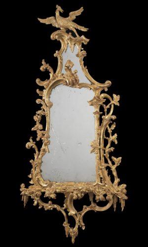 A Chippendale Giltwood Girandole. England, circa 1760
