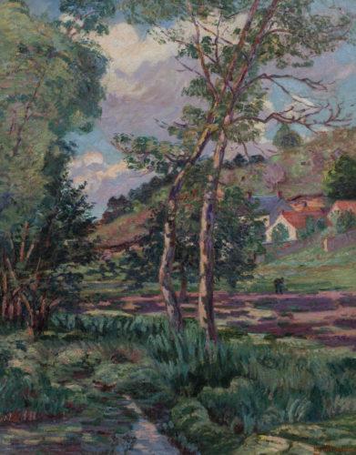 """Armand Guillaumin (French, 1841-1927) """"Paysage de l'Ile-de-France"""""""