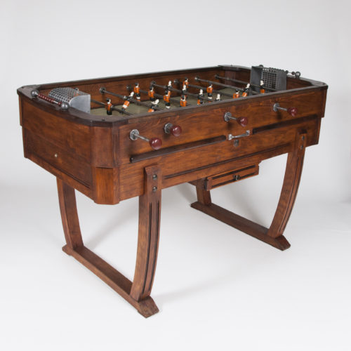 """A 1950's French """"Baby-foot"""" table football game."""
