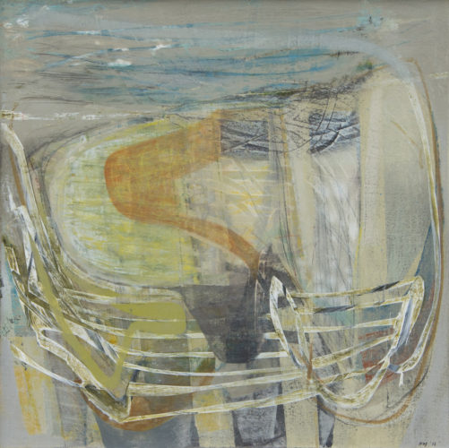 Peter Joyce, b. 1964 Shifting Sands, 2018 Signed, titled and dated verso Acrylic on canvas laid on board 27 1/8 x 27 1/8 in 69 x 69 cm