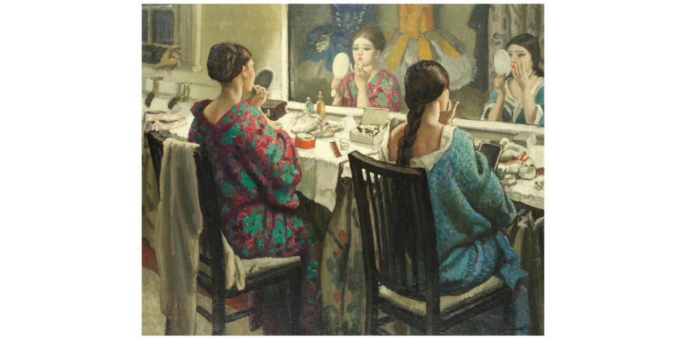 Laura Knight, 'The Dressing Room' Oil on canvas; 64 x 76 cms