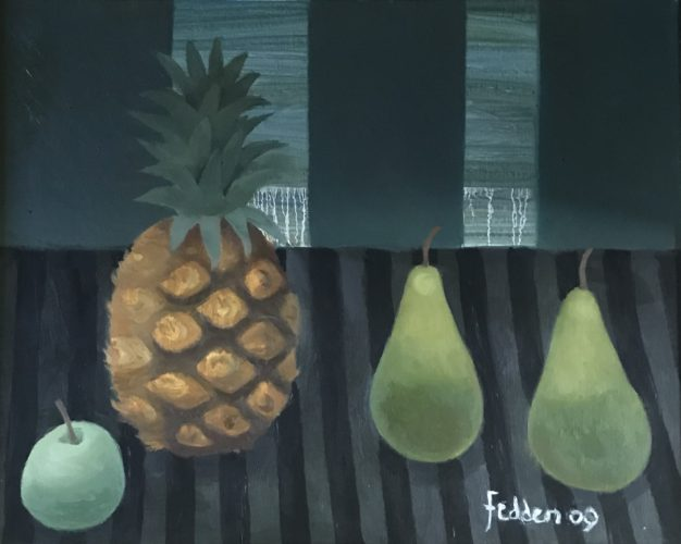 Mary Fedden, 'Pineapple and Pears' Oil on canvas; 50 x 40 cms
