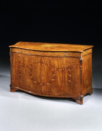18th century George III marquetry commode attributed to Mayhew and Ince. English 1770