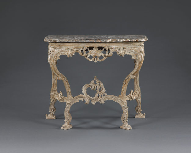 18th century giltwood console table. Circa 1760