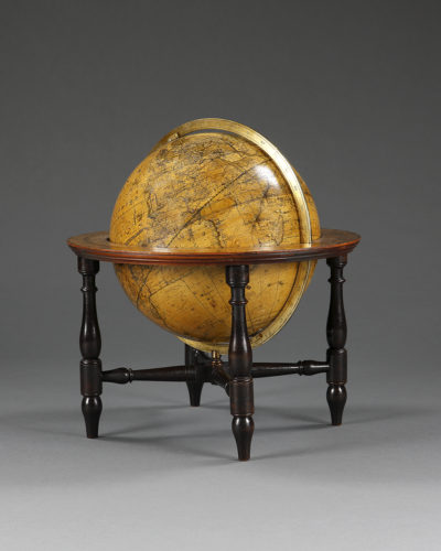Early 19th century table globe by W & S Jones, London. Dated 1822