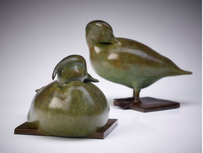 Jonathan Knight, Tufted Ducks, Bronze Sculpture, Edition of 12 (Exclusive to Rowles Fine Art)