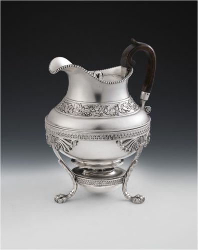 A very rare George III Jug on Lampstand made in London in 1812 by Joseph Angel