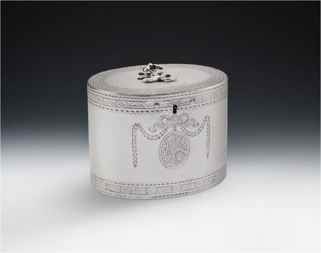 A rare George III Tea Caddy made in London in 1777 by Hester Bateman