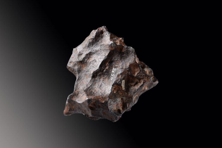 A large, sculptural, octahedrite meteorite, recovered from one of the most famous and well preserved impact craters on earth.