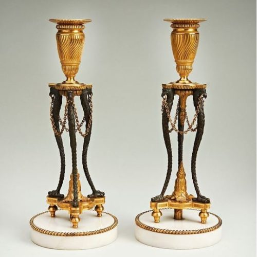 Pair of Neoclassical Candles