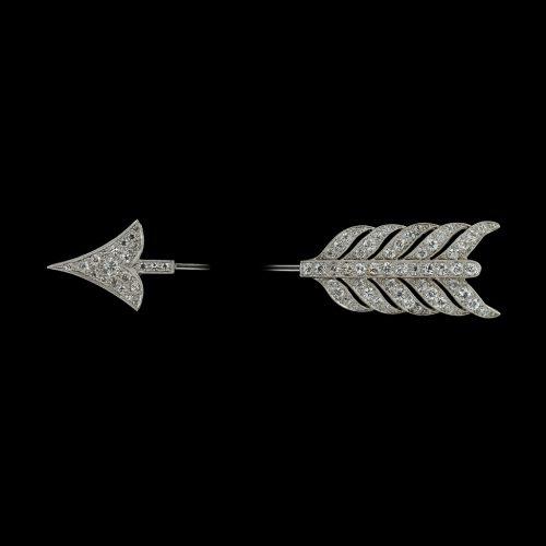 Not a brooch but a 1920's diamond arrow jabot pin
