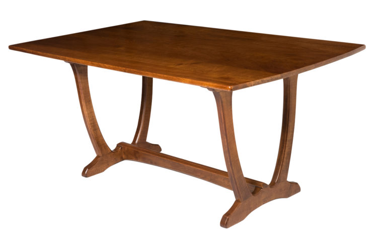 "Oak Refectory Table by Edward Barnsley on a ""Wishbone"" Base, England circa 1940"