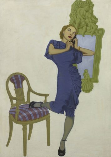 'Trunk Call' by Unknown American Illustrator c.1930