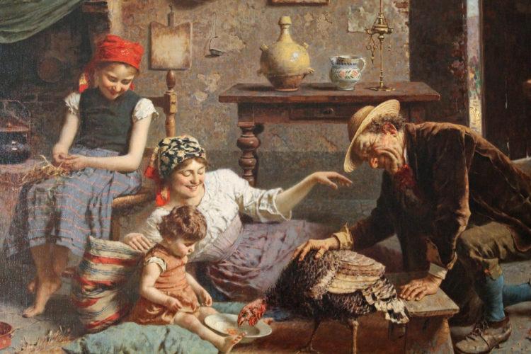 "Eugenio Zampighi (1859-1944) ""The Hungry Turkey"