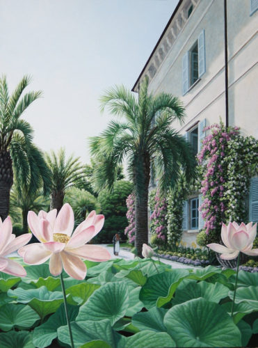 Steve Easby paints Lake Como and the environs. He works in acrylic on canvas 2018