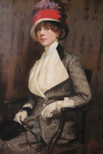 Portrait of Ann Dawson, - the artist's wife. Oil on Canvas by James Arden Grant (1887 - 1973)