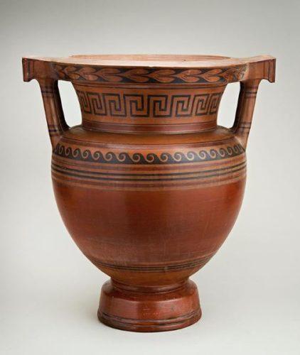 Terracotta Krater Vase