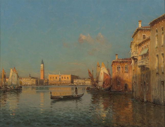 Marc Aldine - Grand Canal, Venice - Oil on Canvas - 19
