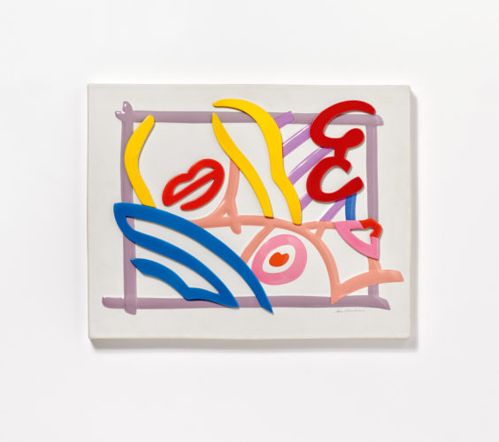 Tom Wesselmann (1931-2004), New York Bedroom Blonde. 1986. Ceramic, partially polychromed and glazed. 35 x 44.5 x 2.5cm.