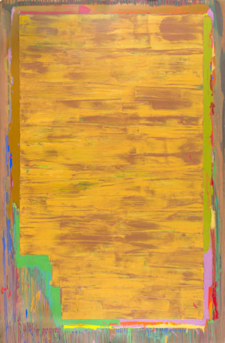 John Hoyland - Orlo (14.4.76) 1976, Acrylic on canvas, 228.5 x 150 cm Signed and dated verso on the canvas overlap and dated again verso