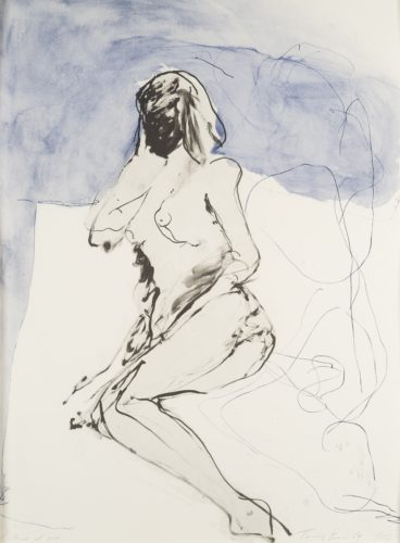Tracey Emin - I think of You Lithograph in 2 colours on Somerset 300 gsm paper, ed. 100 of 100 Titled lower left, signed, dated and numbered lower right in pencil by Emin 90 x 68 cm