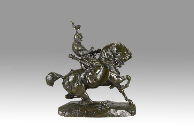 Guerrier Tartare Arrêtant son Cheval by Antoine Barye. - £17,500 - 37cm High