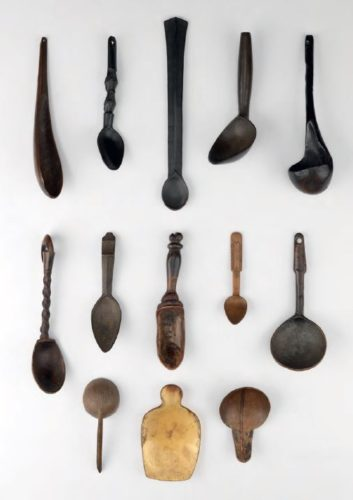 Part of Seward Kennedy's worldwide collection of tribal scoops and spoons