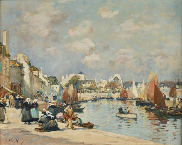 FERNAND LEGOUT-GÉRARD 1856-1924 Concarneau Oil on canvas, signed 18 x 25 in. (26 x 29 in. framed)