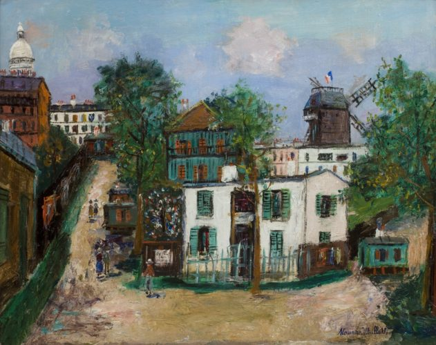 "Maurice Utrillo 1883 – 1955 ""Maquis à Montmartre"". Nationality: French. Board size: 25"" by 31"". Frame size: 35"" by 41"". Oil on board, signed. Painted c.1946"