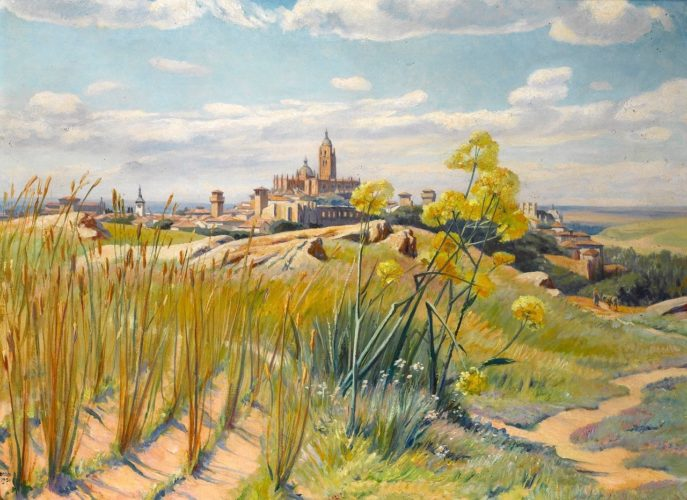 FRANCIS H DODD 1874-1949 Segovia, Spain Oil on Canvas. Signed and dated 1931. In original frame and labels verso.