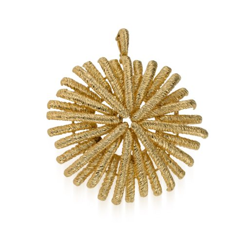Van Cleef and Arpels large 1960/70s sunburst pendant dress clip Signed Van Cleef, Paris, French marked and in 18 carat gold