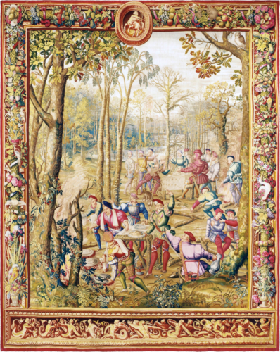 Royal Manufacture Gobelins 'Les chasses de Maximilien' 18th Century, 420 x 337 cm