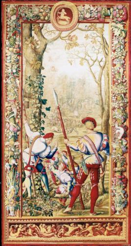 """Royal Manufacture Gobelins """"Les Chasses de Maximilien"""" 18th Century, 420 x 223 cm"""