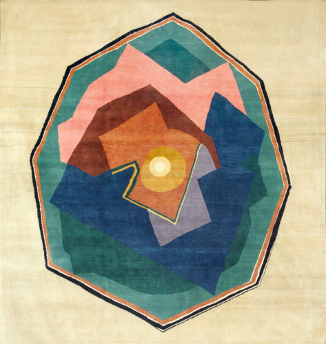 Hand-knotted artistic wool rug after Albert Gleizes (France, 1881 - 1953), Design N.36, 300 x 300 cm