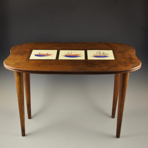Gio Ponti small table with ceramic tiles c. 1930