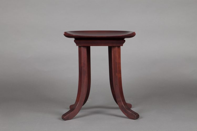 Stool. c. 1910 Adolf Loos Exceptional solid mahogany stool. Inspired by the Egyptian stool called