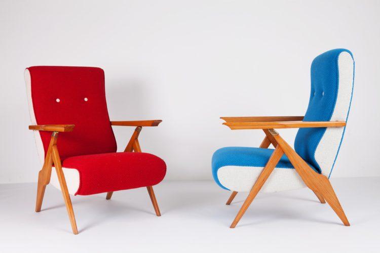 "Armchair ""Piuma"" 1955 A. Gorgone Made for Casa del Sole, Cervinia, Italy"