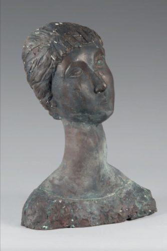 'Buste de femme' c. 1920 By Jean Riviere (French) Bronze