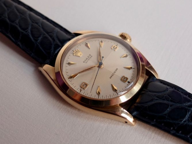 Vintage Rolex Oyster Precision with very rare quartered