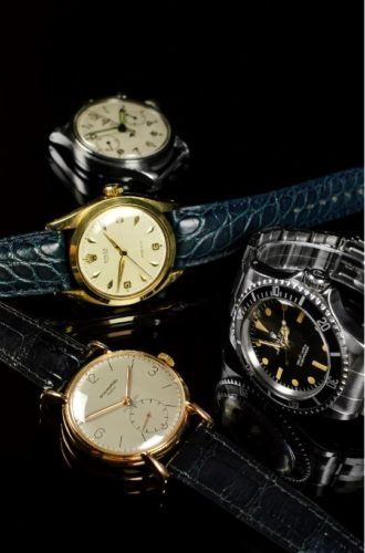 Vintage watches from Rolex, Patek Philippe and other quality manufacturers.
