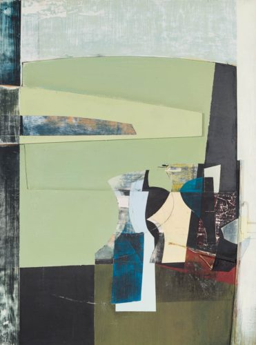 Jeremy Gardiner Ballard Point No.11, Dorset, 1998 Relief; acrylic and wood attached to birch panel 122 x 91 cm