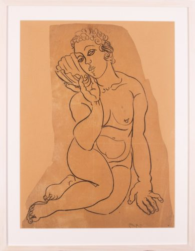 Raoul Dufy (French, 1877 - 1953) 'Vénus à la Coquille', circa 1925